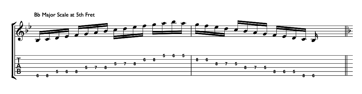 major scale 5 position